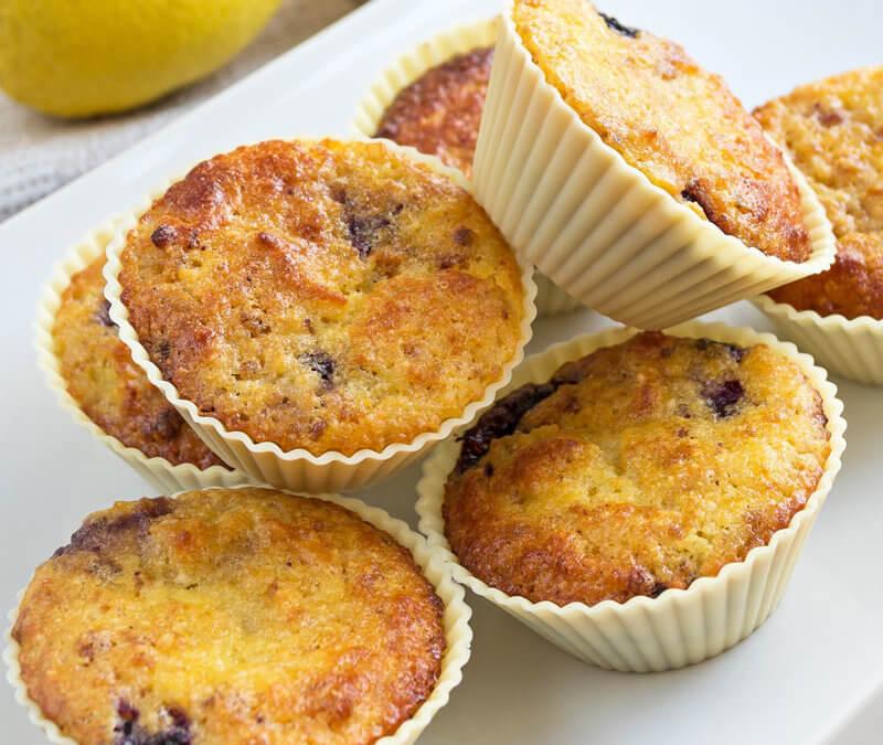 Homemade Blueberry Lemon Muffins