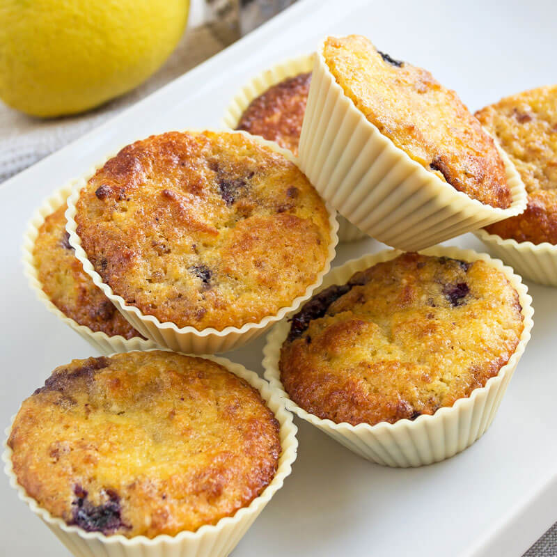 Homemade Blueberry Lemon Muffins