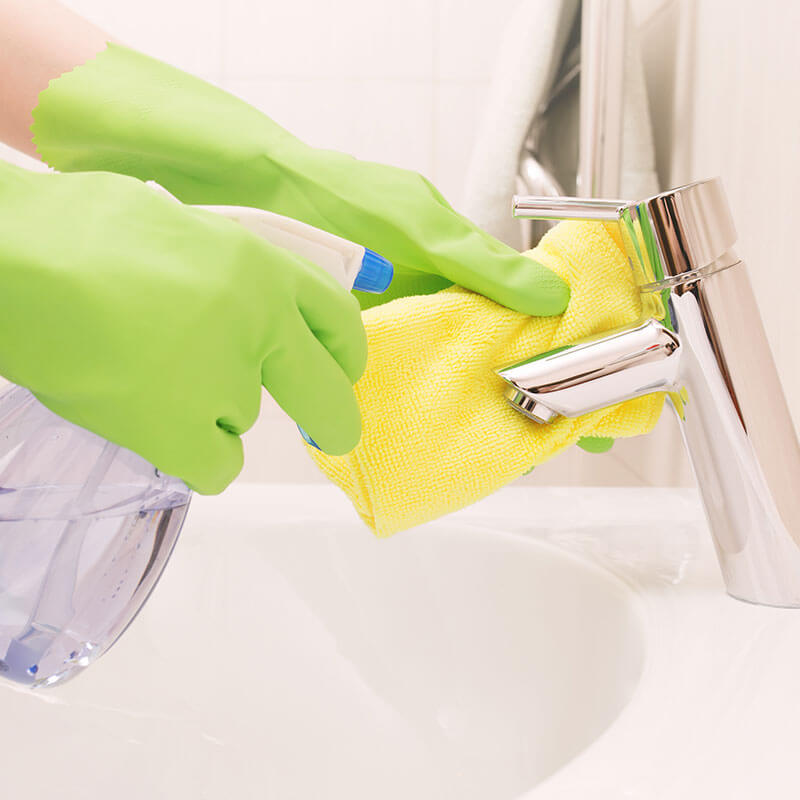bathroom cleaner with essential oils to sanitize your home