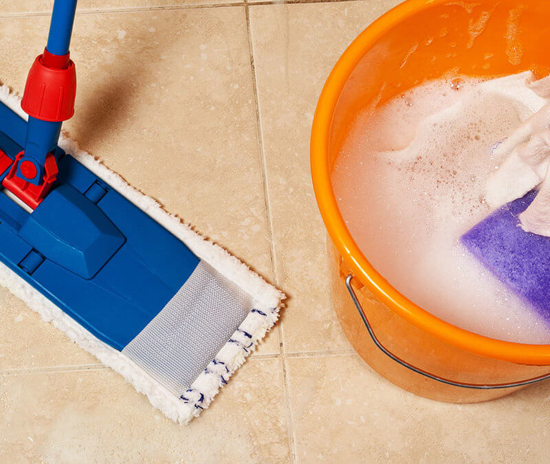 Homemade Tile Cleaner Recipe with Essential Oils