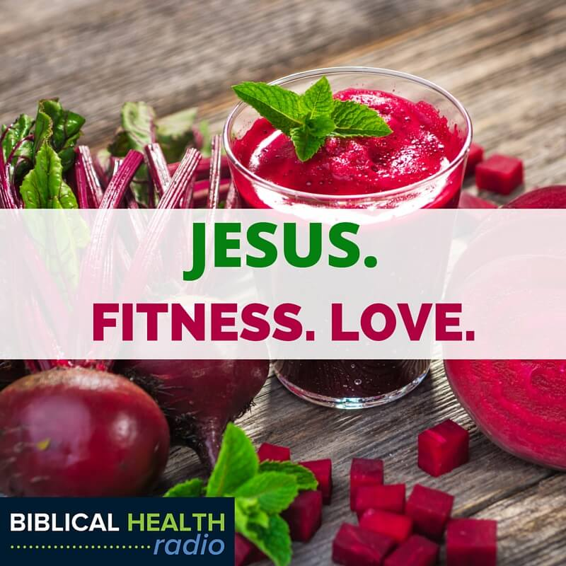 Hear about the blue zones, some good home exercise, how to exercise if you're elderly or middle-aged. All kinds of stuff related to Jesus Fitness Love.