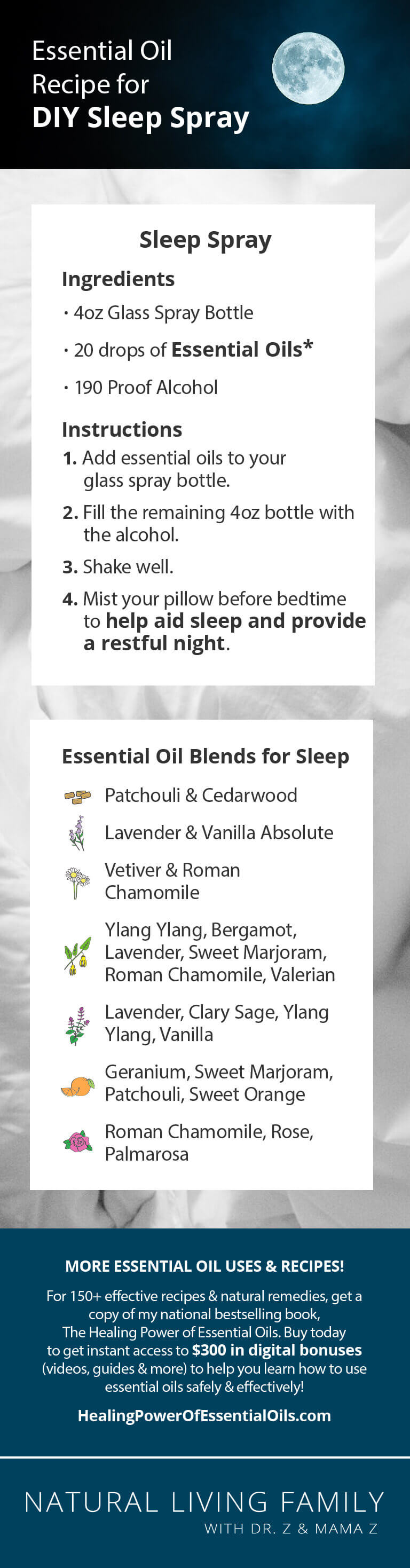 DIY Essential Oils for Sleep Spray Recipe