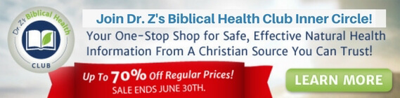 Join Dr. Z's Biblical Health Club Inner Circle!