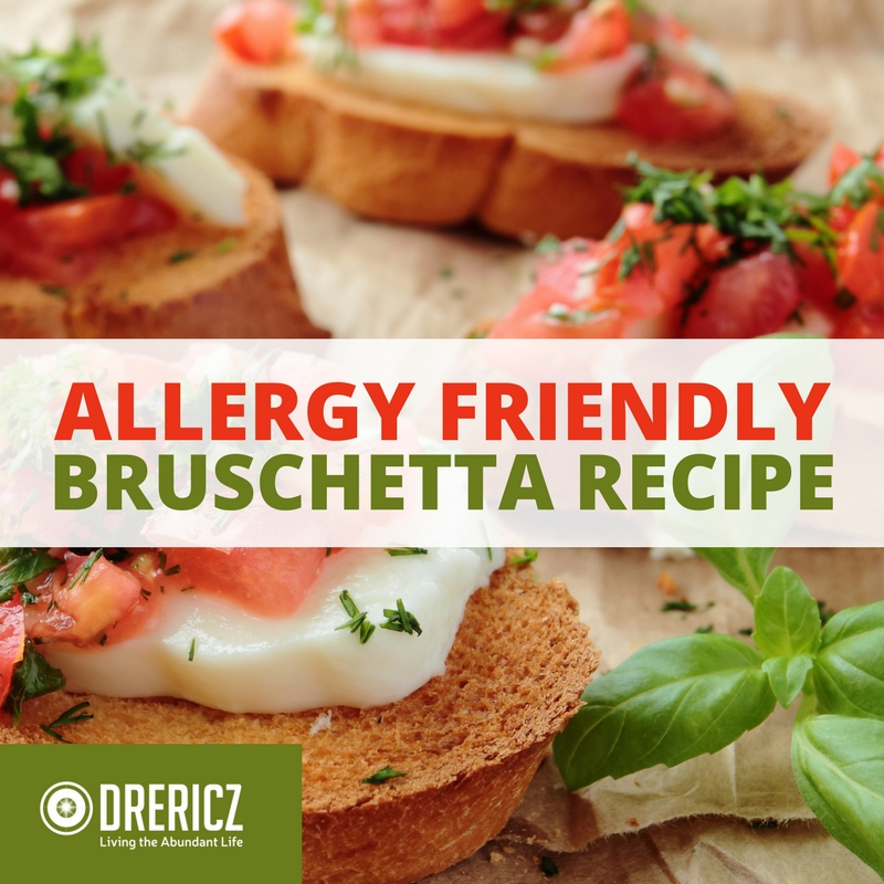 Allergy Friendly Easy Bruschetta Recipe
