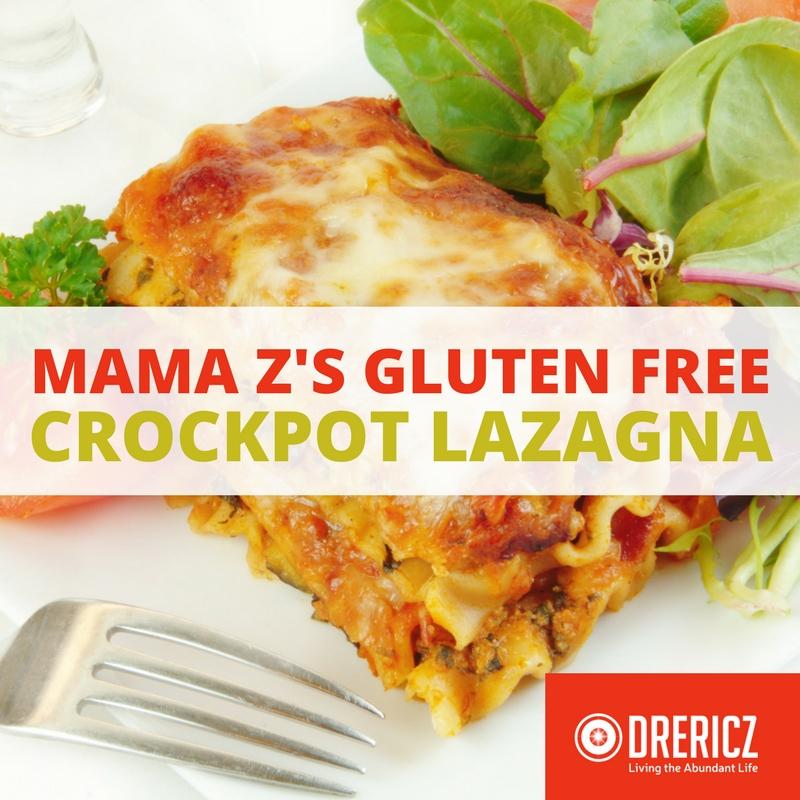 Gluten Free Easy Crockpot Lasagna