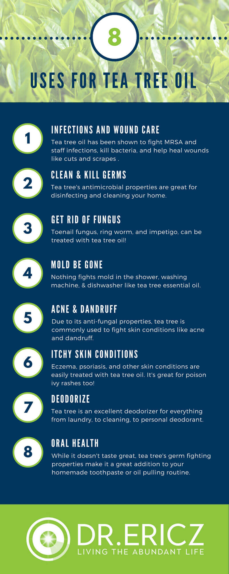 Tea Tree Oil Uses Infographic
