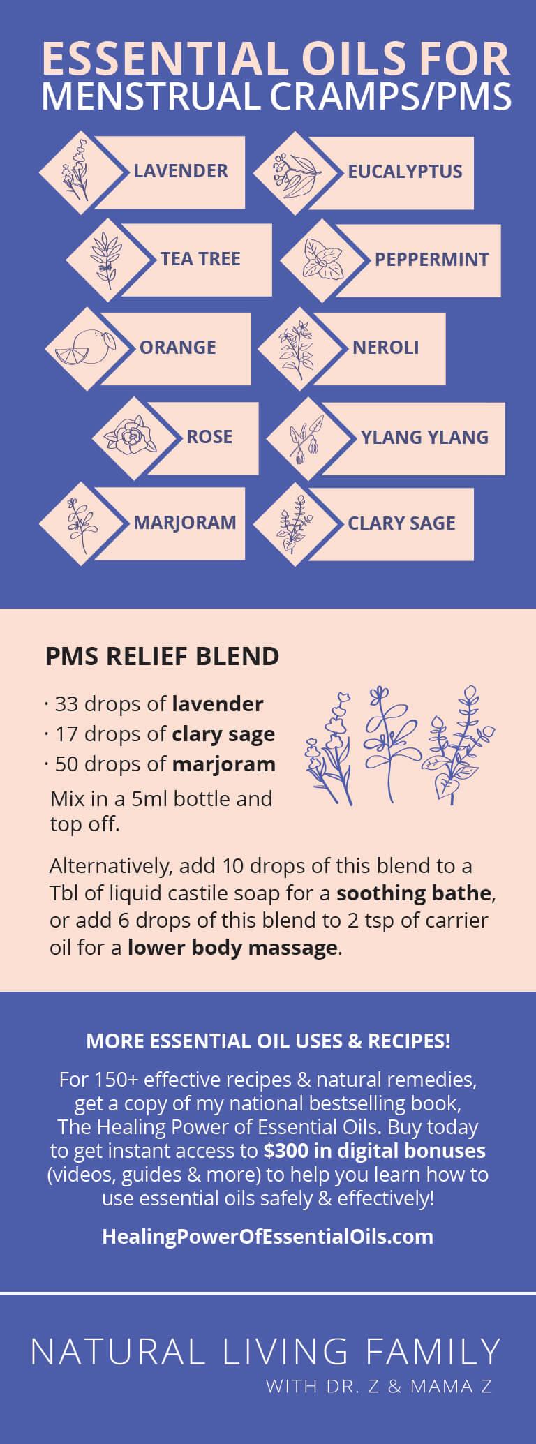 Essential Oils for Menstrual Cramps: The 10 Best Oils