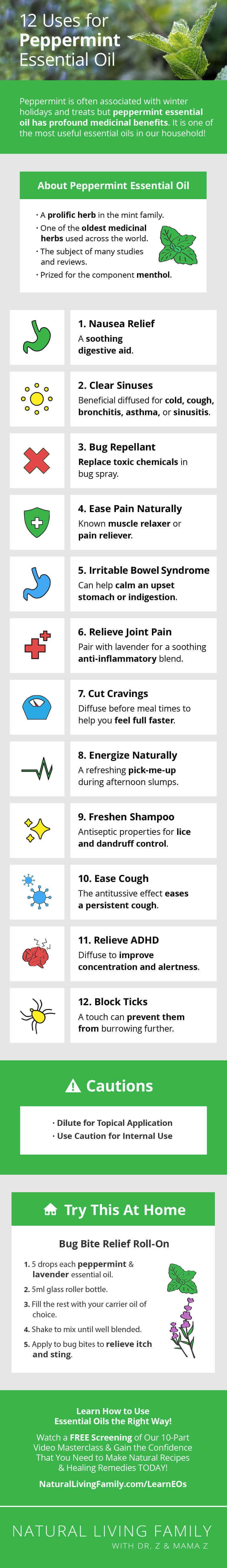 12 Uses For Peppermint Essential Oil