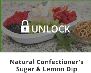 Unlock Mama Z's Natural Confectioner's Sugar & Lemon Dip Video