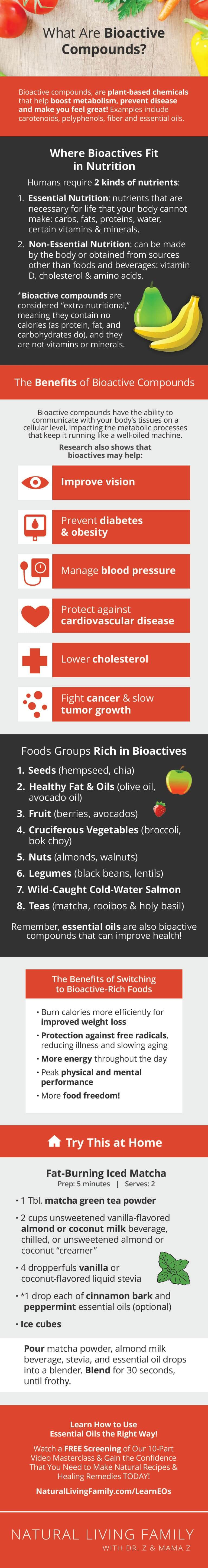 Bioactive Foods What they Are & Why You Need Them in Your Diet! Infographic