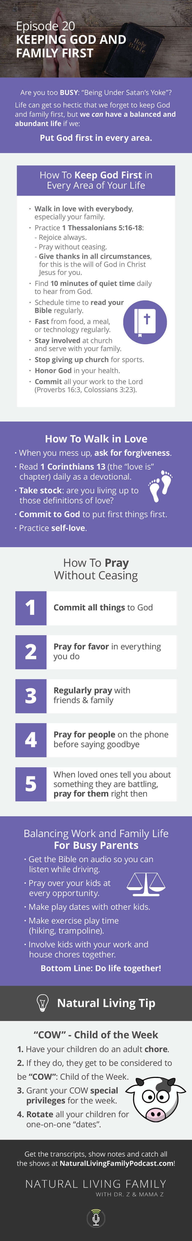 Keeping First Things First Making God and Your Family a Priority - Podcast Episode 20
