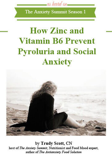 How Zinc and Vitamin B6 Prevent Pyroluria and Social Anxiet by Trudy Scott