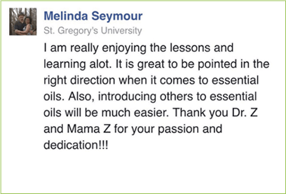 Here's What People Are Saying About Our  Essential Oils Masterclass